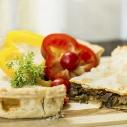 Mushroom Pie On The Table With Fresh Vegetables 000078647611 Medium